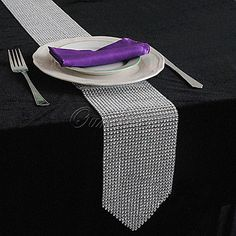 Crystal Rhinestone Diamond Table Runner  Xmas Wedding Christmas Decor 12 X 275CM