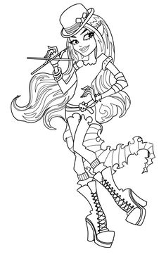 Boo Lu Cerone Monster High Coloring Pages For Kids Printable Free