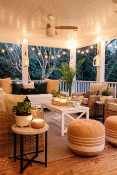 A budget-friendly back porch refresh with decorating ideas to make it feel like a backyard oasis.