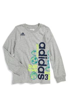 adidas 'Linear Wrap' Graphic T-Shirt (Toddler Boys & Little Boys) available…