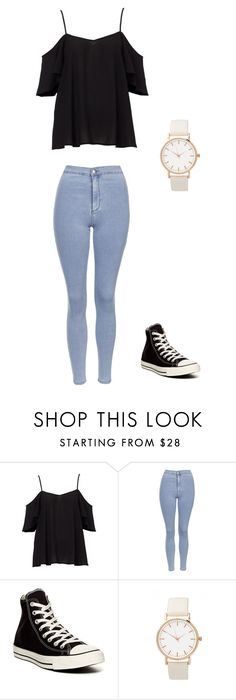 """Unbenannt #903"" by littlewonder2504 ❤ liked on Polyvore featuring Topshop and Converse"
