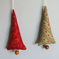 fabric tree ornaments