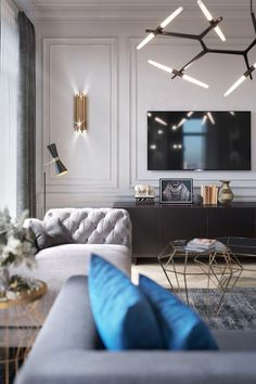 47 Elegant Home Decor To Add To Your List livingroom interior room design Elegant Home Decor, Elegant Homes, Salas Home Theater, Living Room Tv, Living Room Interior, Classic Living Room, Interior Office, Interior Livingroom, Cozy Living