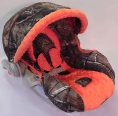 Custom Boutique Real Tree AP Orange Infant Car by smallsproutsbaby....eeeeek!!! I want the over for my stroller, too! Lol
