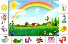 Kids Learning Activities, Summer Activities For Kids, Weather For Kids, Seasons Worksheets, Montessori Kindergarten, English For Beginners, Baby Sensory Play, Rainbow Crafts, Fall Crafts For Kids
