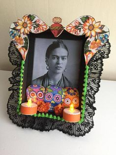 Wooden Add Your Own Picture Altar/Nicho Day of the Dead Diy Day Of The Dead, Day Of The Dead Artwork, Mexico Day Of The Dead, Day Of The Dead Party, Mexican Crafts, Mexican Folk Art, Mexican Skulls, Holidays Halloween, Halloween Decorations