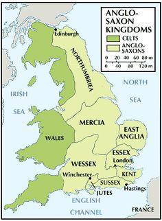 The 4 Kingdoms that Dominated Early Medieval England Uk History, European History, British History, Scotland History, American History, Anglo Saxon Kingdoms, 4 Kingdoms, Anglo Saxon Chronicle, Anglo Saxon History