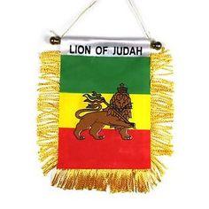 Lion of Judah Flags Banners   Lion-Of-Judah-Mini-Flag-Banner-Rastafari-Rasta-Mini-Banner-Africa ...