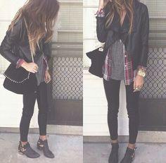 Plaid & Leather