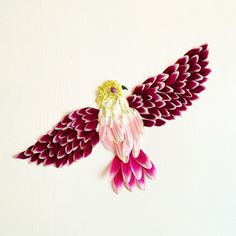 Seattle Artist Bridget Beth Collins creates beautiful collages with flowers and plants - My Modern Met
