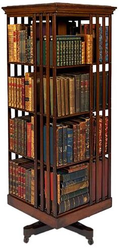 Revolving bookcase belonging to David Scott Mitchell, major benefactor of the State Library of New South Wales, 1907,