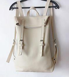 Ivory white back pack