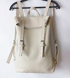 Ivory white back pack