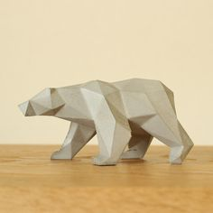 Form 直線だけでできた動物の置物/シロクマ3-D PrintingMore Pins Like This At FOSTERGINGER @ Pinterest