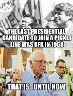 RFK in 1968 --- 45 years later --- Bernie Sanders in 2015
