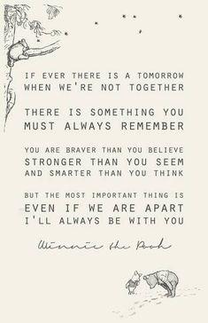 If there is ever a tomorrow we aren't together