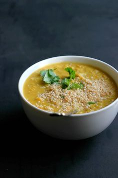 Sweet Potato, Red Lentil + Coconut Dal ⎮ happy hearted kitchen