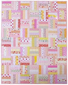 Red Pepper Quilts - A Finished Quilt and a Picture Post. Custom Order Baby Quilt Quilt measures 42.5 inches x 54.5...
