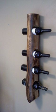 Secure Wall Hanging Wooden Wine Rack