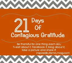 21 days of gratitude - a challenge for the whole family!