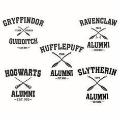 Hogwarts Slytherin Gryffindor Ravenclaw and Hufflepuff School Alumni Pack Cuttable Design Cut File. - Trend Design Home App 2019 Images Harry Potter, Theme Harry Potter, Harry Potter Shirts, Harry Potter Diy, Harry Potter Decal, Ravenclaw, Apex Embroidery, Embroidery Designs, Hogwarts Alumni
