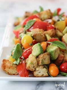 Avocado Panzanella - delicious end of summer salad recipe.