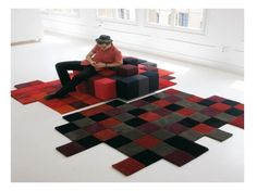 16 Interesting Creative Ideas For Floor Carpets.  Love this one.