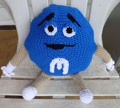 Ravelry: M&M Candies Man Pillow pattern by Diana Stanhope
