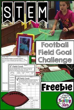 STEM Football Field Goal Challenge is  Students plan, design, engineer, and collect data as they are having fun designing a football field and goal post. Students collect data as they kick their footballs for field goals.
