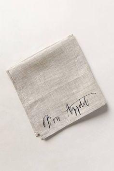 Linea Carta Bon Appetit Napkin #anthrofave