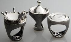"""""""Plink"""" rings - Luisa Bruni"""