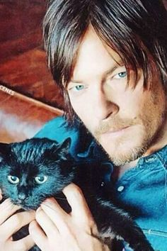 Norman Reedus with Eye in the Dark *love those blues
