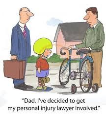 image of personal injury - Cartoon of father teaching son to ride a bicycle - JPG Law School Humor, Lawyer Humor, Personal Injury Law Firm, Legal Humor, Injury Attorney, Father And Son, How To Know, Teaching, Bicycle