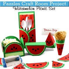 Pazzles craft room Watermelon Picnic Set.