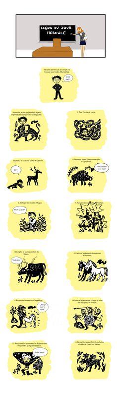 L'œuvre Les 12 travaux d'Hercule par l'auteur Jenni, BD courte disponible en ligne | Short Edition