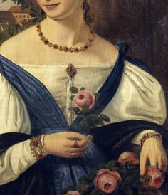 Portrait of a Lady by Ferdinand Hauptner, 1834