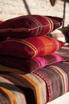 Moroccan kelim pillows.