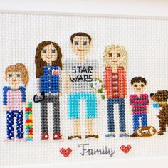 Cross stitch family portraits (@famolya) Instagram