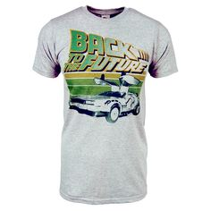 £20 Mens Retro Back To The Future T Shirt Grey