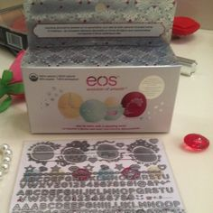 100% natural 3pack  Eos dazzle gift set limited Dazzle your eos ! Stickers are included ! To shine up and personalize your eos  get all 3 boxed great fir gifting this was a holiday pack get it all ! Follow us on Inst@gram @spookyheartsboutique Join our forever loves of lippie bundles & collection of chapsticks lip products lipsmackers & More beauty Sephora Makeup Lip Balm & Gloss