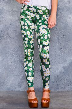 Daisied And Confused Leggings - 48HR ($75AUD) by BlackMilk Clothing