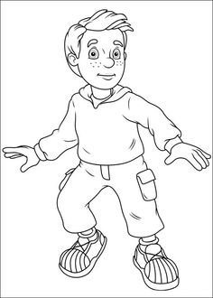 Disegni da colorare per bambini. Colorare e stampa Sam il pompiere 51