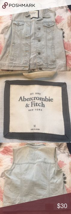 Abercrombie and Fitch Jean Vest! MEDIUM Great vest! Perfect for dresses! Great condition!! Abercrombie & Fitch Jackets & Coats Vests