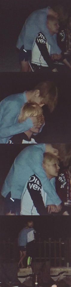 This moment is so precious. Taehyung was upset after his grandpa passed away and Jimin was comforting him. Jhope, Bts Vmin, Kim Namjoon, Bts Taehyung, Bts Bangtan Boy, Seokjin, Taekook, Jung Hoseok, Yoonmin