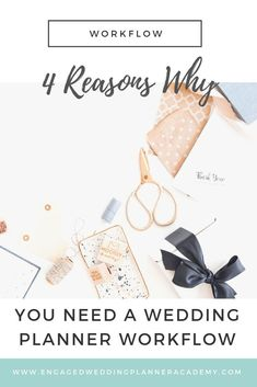 Let me share with you four reasons why you need a wedding planner workflow. Systems and automation can elevate your wedding planning business- so take notes! | Wedding planner business, wedding planner tips, wedding planner workflow, wedding planner career, how to become a wedding planner, wedding planner job