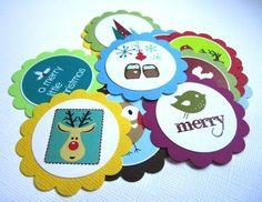 Owl and Other Nature Critters Christmas Holiday Gift Tags | adorebynat - Seasonal on ArtFire #bmecountdown