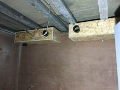 Ventilation system construction in a recording studio - Cedar West, Leeds