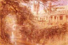 Magdalen College, Oxford de Albert Goodwin (1845-1932, United Kingdom)