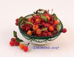 12th Scale Miniature ** Cherry Bowl **...IGMA Fellow #Linsminis