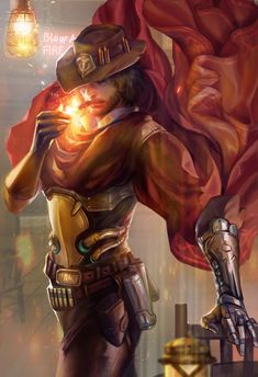 overwatch mccree fan art and see you at yaoi con by jiuge